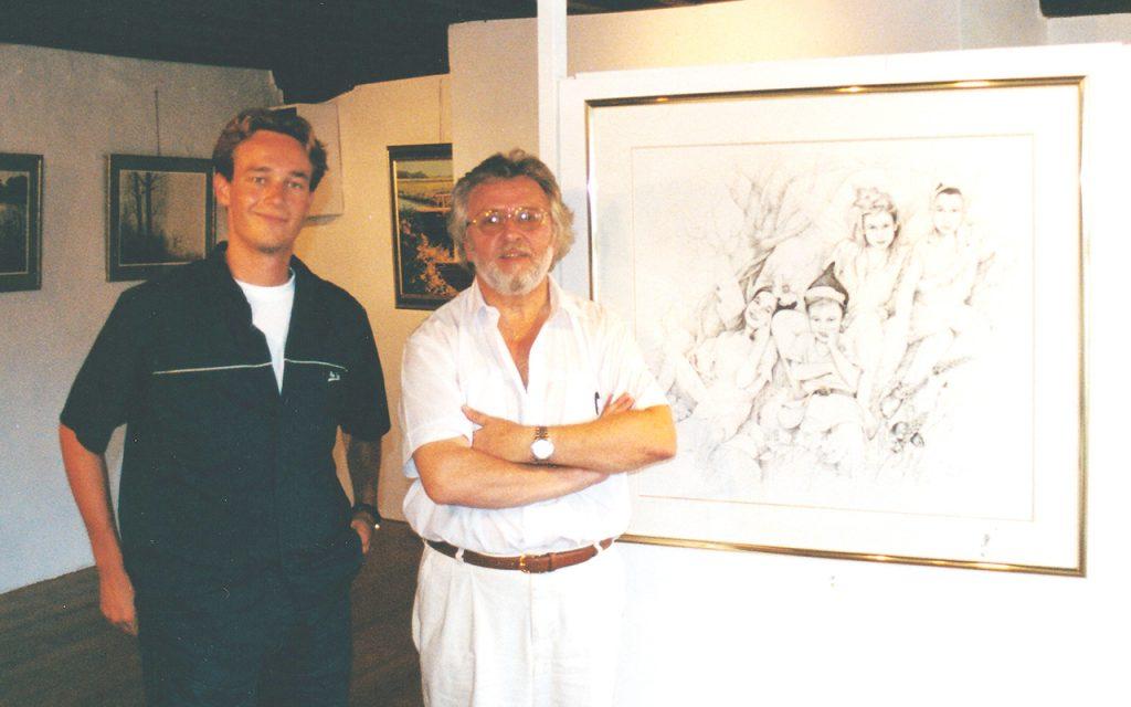 Paul Geerts' tentoonstelling Lissewege in 2001