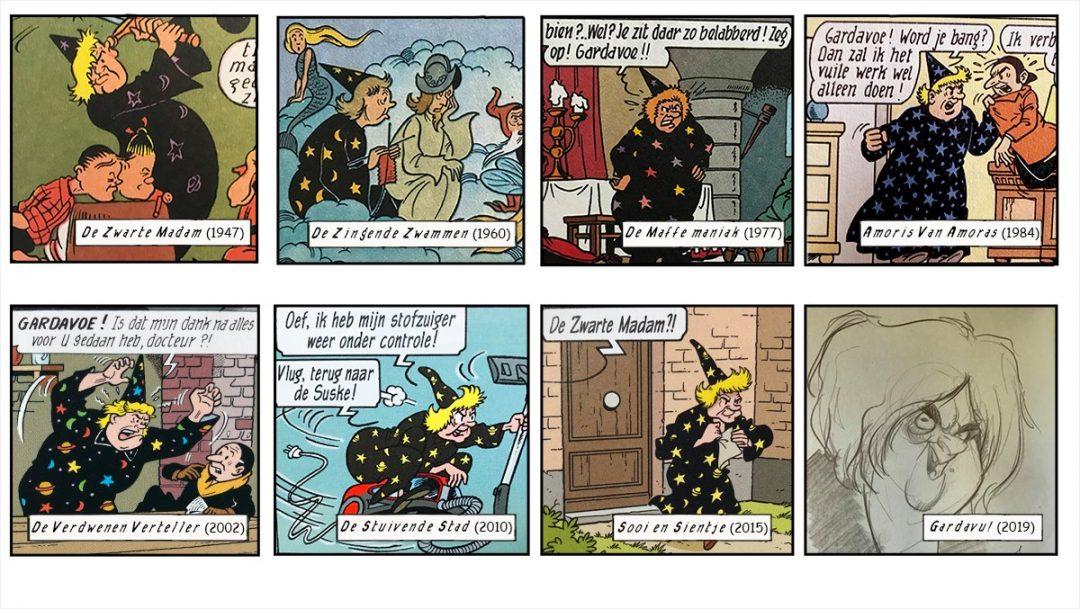 Ter illustratie van de ontwikkeling van de tekenstijl van De Zwarte Madam