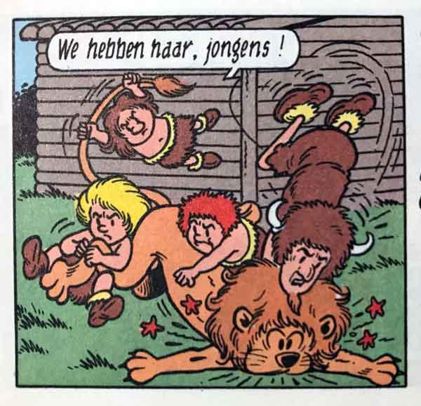 Suske en Wiske De Belhamel Bende leeuw