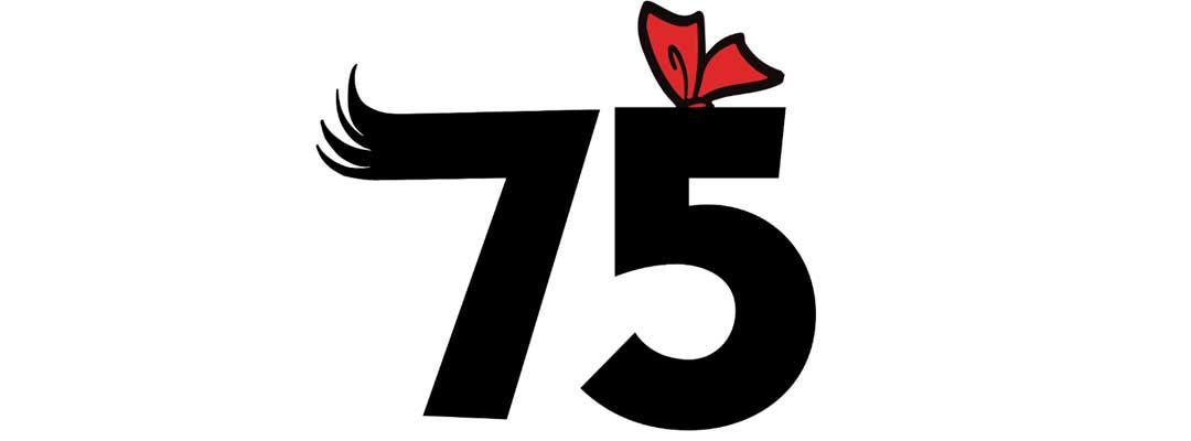 Suske en Wiske 75 jaar logo