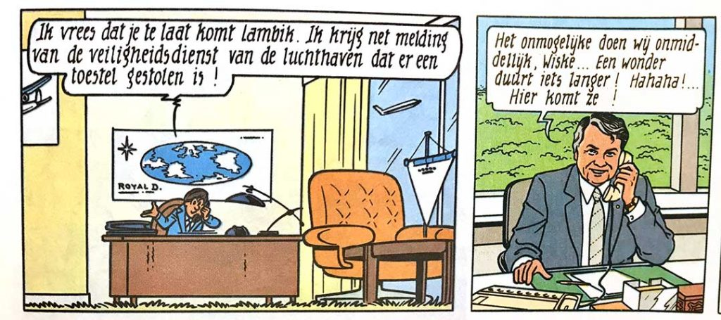 Ron Wunderink KLM Suske en Wiske