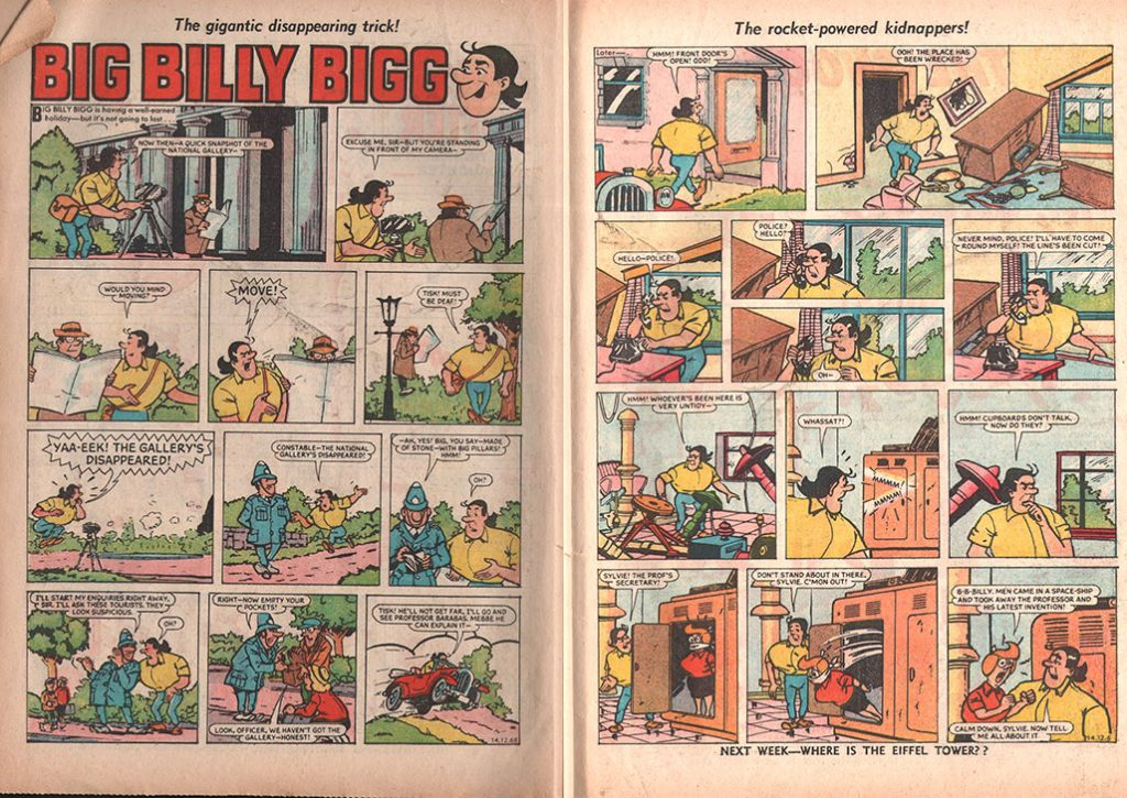 Big Billy Bigg Sparky Comics
