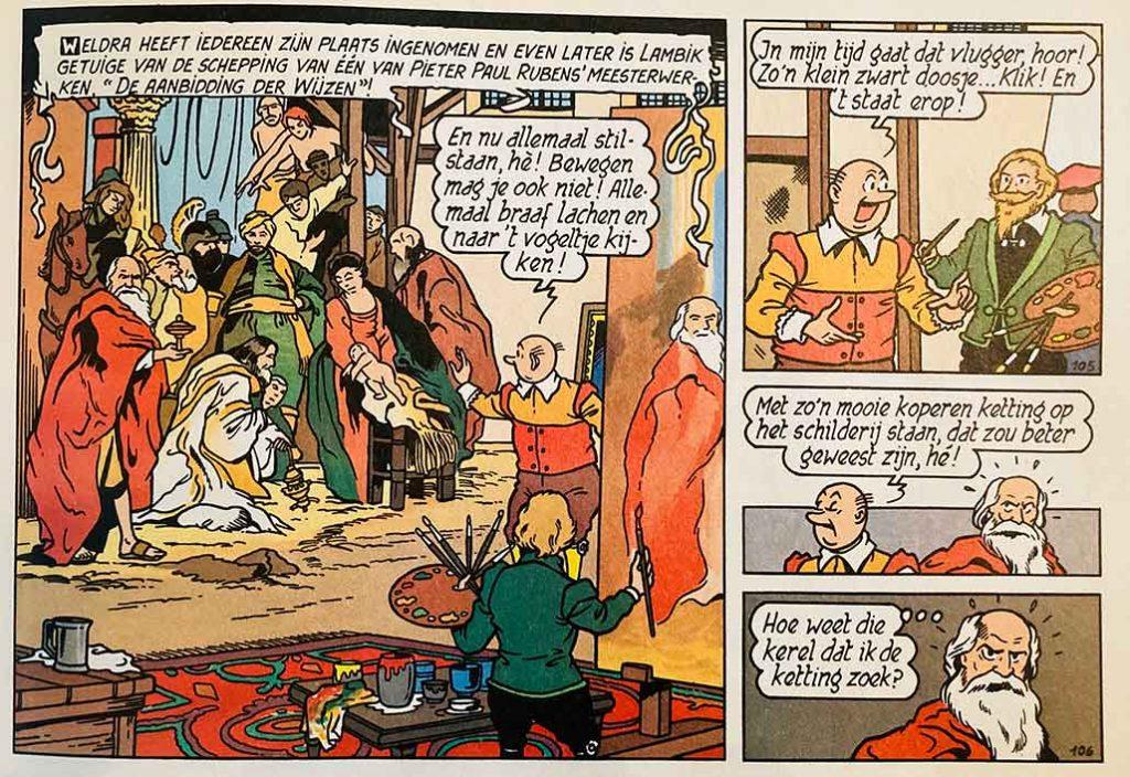 Rubens Aanbidding Door De Koningen Suske en Wiske in Antwerpen