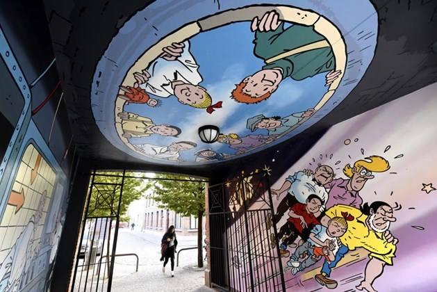 Suske en Wiske muurschildering Antwerpen