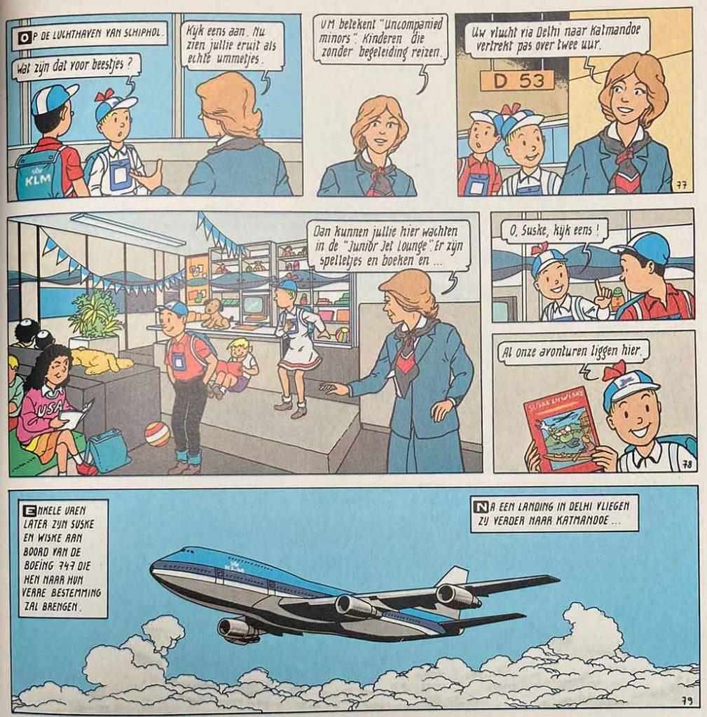 KLM Ummetjes Suske en Wiske De Parel In De Lotusbloem
