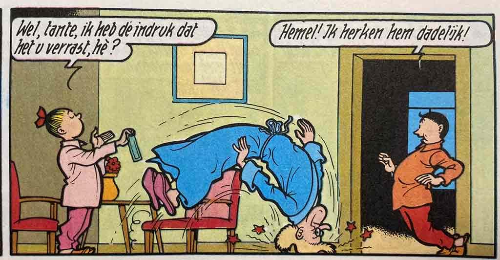 De Snorrende Snor Tante Sidonia Suske en Wiske zenuwaanval