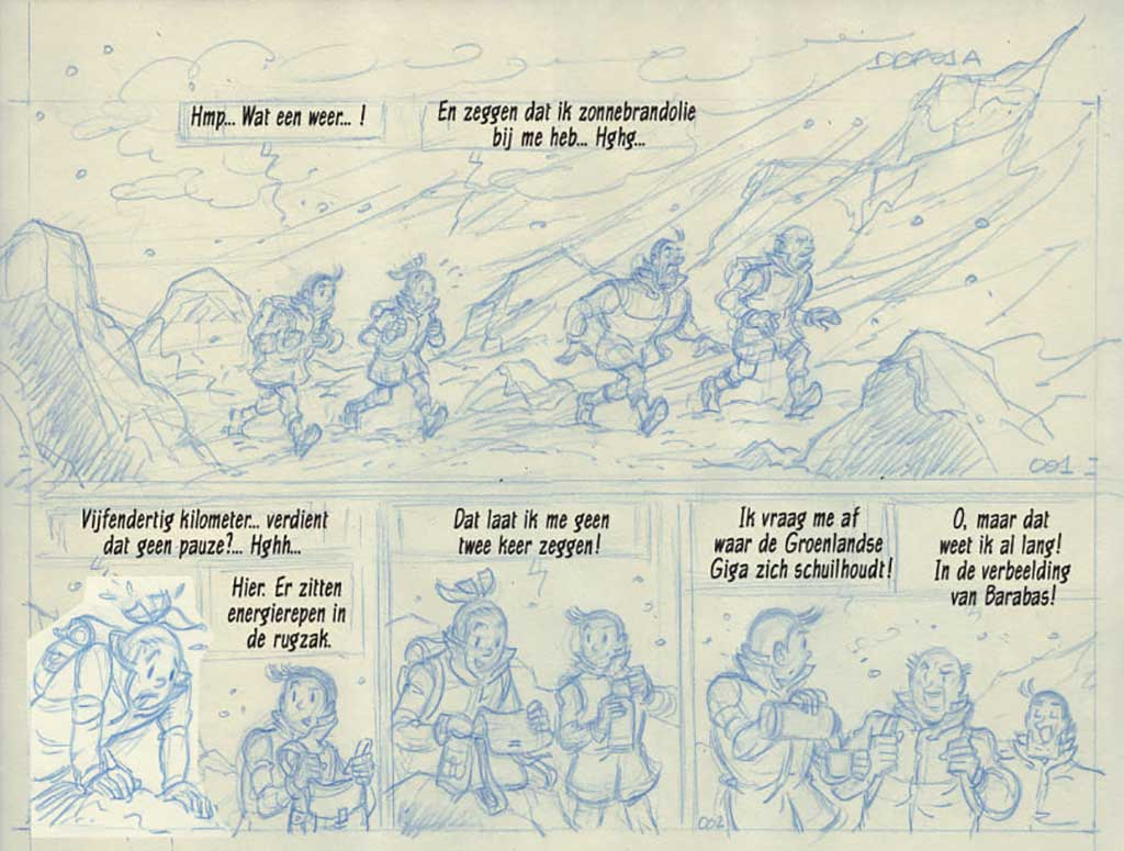 Schetswerk Luc Morjaeu - De Zalige Ziener - Suske en Wiske