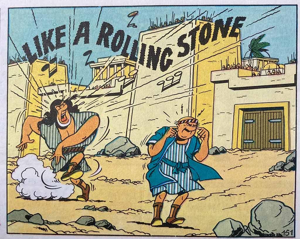 Suske en Wiske - De Kale Kapper - Jerommeke - Like a rolling stone Bob Dylan