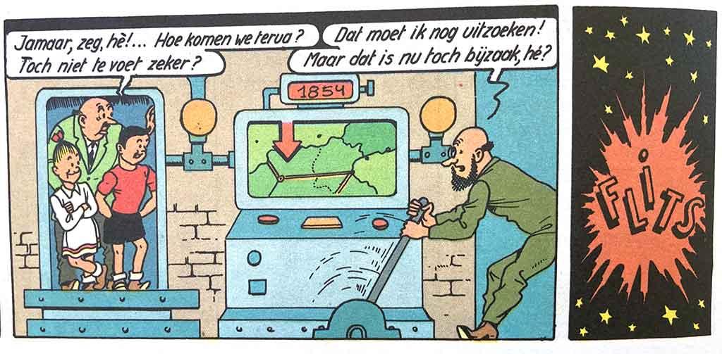 Teletijdmachine Professor Barabas De Tuf-Tuf-club Suske en Wiske uitvindingen