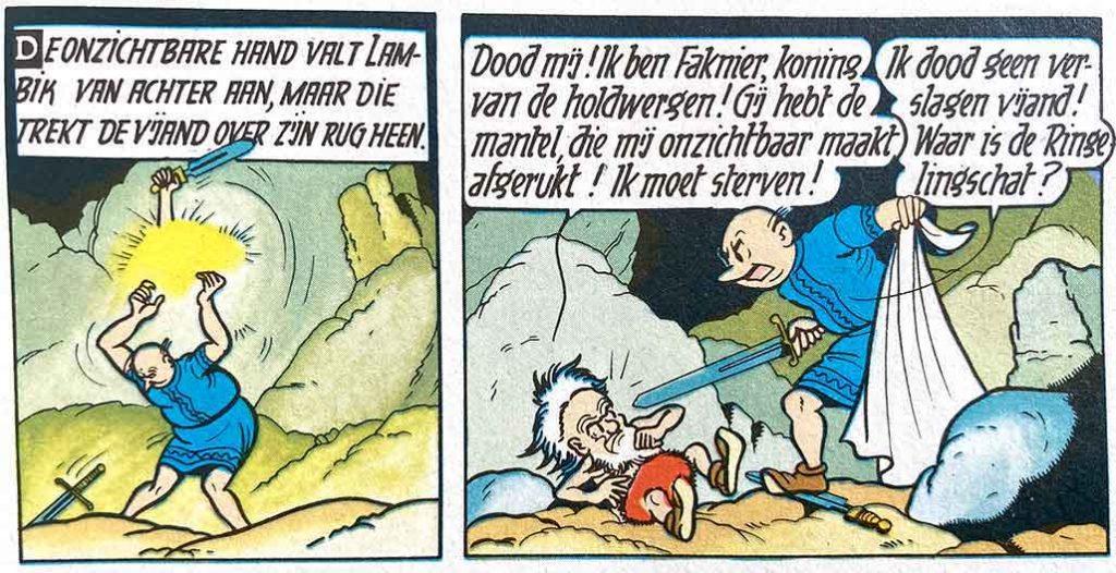 Faknier Fafnir Mythologie Suske en Wiske De Ringelingschat