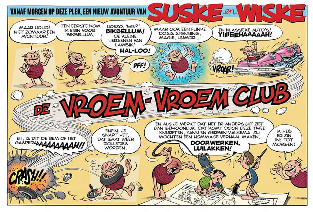 Bikbellum Suske en Wiske hommage-album Gerben Valkema De Vroem-Vroem Club